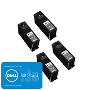 Dell 4 x Single Use High Yield Black Cartridge (Se