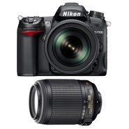 D7000 16.2 MP Digital SLR Camera with 55-200 mm Ni