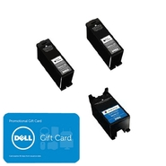 Dell Series 23 3-Pack Ink Bundle: 2 x Single Use H