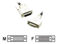 CABLES TO GO 1M DVI D M/F DUAL LINK DIGITAL VIDEO