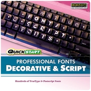 Quickstart Professional Fonts Decorative &amp; Script 