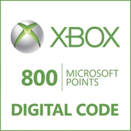 Microsoft Corporation Xbox LIVE 800 Points Prepaid
