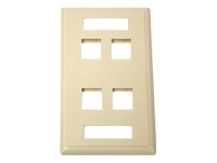 C2G 2-Port Multimedia Keystone Wall Plate - White