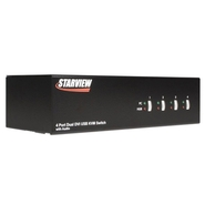 4 Port Dual DVI USB KVM Switch with Audio