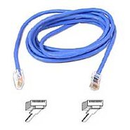 CAT5e RJ-45M to RJ-45M Snagless 7' Patch cable Blu