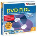 8.5 GB Dual Layer DVD-R (3 pack)