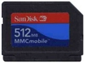 512MB RSMMCDV Reduced Size MultiMedia MMC Mobile