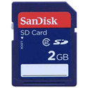 2GB 9p SD Secure Digital Card 24x Class 2 16/7 MB