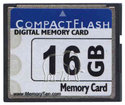 16GB 50p CF w/ CompactFlash 16GB label CompactFla