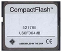 64MB 50p CF CompactFlash Card 38/13X w/ white Com