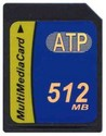 512MB 7p MMC MultiMedia Card with Label Bulk, ATP