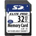32MB 9p SD Secure Digital Card Elite Pro 32/17x F