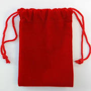 Velvet bag for USB drives