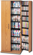 - Multimedia Storage Cabinet - Oak/Black
