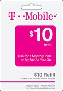 - $10 Wireless Airtime Refill Card