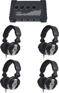 - Professional Studio Headphones (4-Pack) with Hea