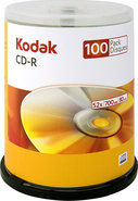 - 100-Pack 52x CD-R Disc Spindle
