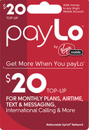 - $20 PayLo Top-Up Card
