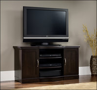 - Entertainment Credenza in Cinnamon Cherry Entert