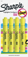 - Chisel-Tip Highlighters (4-Pack) - Yellow