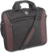 - Angle Laptop Case - Black/Burgundy