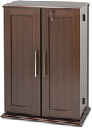 - 376-Disc Media Storage Cabinet - Espresso