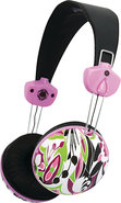 - Over-the-Ear Headphones - Black/Pink/Green