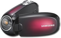 Samsung - Camcorder with 27   LCD Monitor - Red