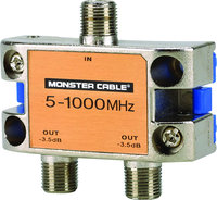 - Standard 2-Way RF Splitter - Silver/Gold