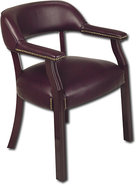 - Vinyl Guest Chair - Red