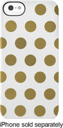 - Snap Case for Apple iPhone 5 - White/Gold Dots