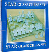 - Elegant Glass Chess and Checker Board Set