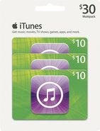 - $10 iTunes Gift Cards (3-Pack)