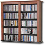 - Multimedia Storage Cabinet - Cherry/Black