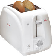 - 2-Slice Wide-Slot Toaster - White