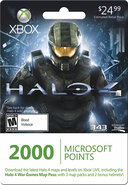 - 2000 Microsoft Points for Xbox LIVE and Halo 4: 