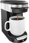 - Personal Cup 1-Cup Pod Brewer - Black/Stainless-