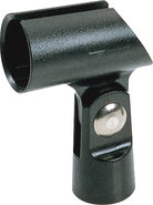 - Rubber Tapered Microphone Holder - Black