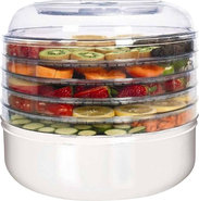 - 5-Tray Electric Food Dehydrator - White