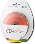 - Cool Colors 10-Pack 52x CD-R Disc Blister - Mult