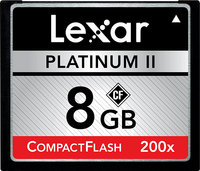 - Platinum II 8 GB CompactFlash (CF) Card - 1 Card