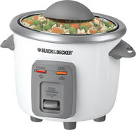 - 3-Cup Rice Cooker - White