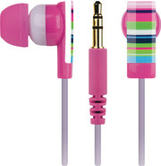 - Earbud Headphones - Pink/Black/Blue/Green