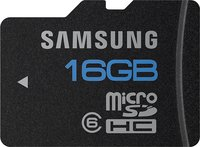 - High Speed 16GB microSDHC Class 6 Memory Card