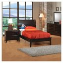 Applewood Platform Bed in Rich Deep Cappuccino - S