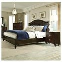 Portman 3 Piece Platform Bedroom Set in Dark Brown