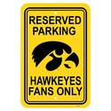 Iowa Hawkeyes NCAA 12 X 18 Plastic Parking Sign Se