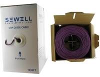SolidRun by Sewell Cat5e Bulk Cable 1000 ft. Purp