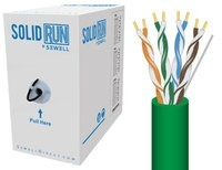 SolidRun by Sewell Bulk Cat6 Cable UTP 1000 ft. G