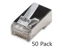 Cat6 Shielded RJ45 Connectors Stranded 50pc